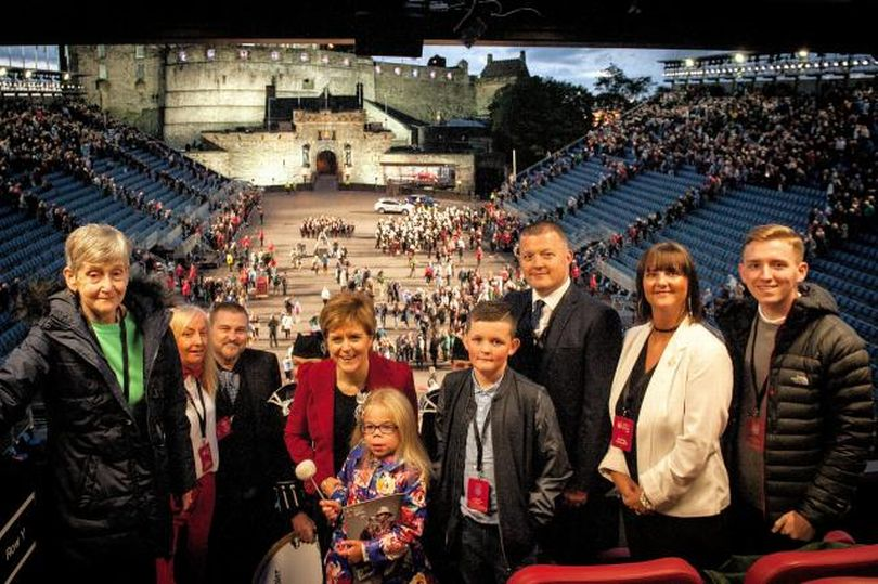 Deborah Burns at Edinburgh Tattoo with First Minister Nicola Sturgeon